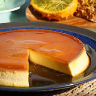 Caramel Cream Cheese Custard.