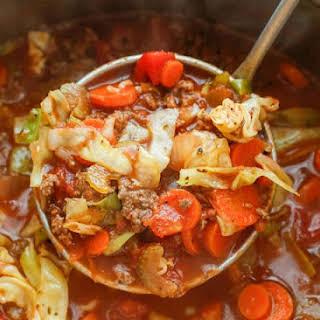 Hearty Italian Vegetable Beef Soup.