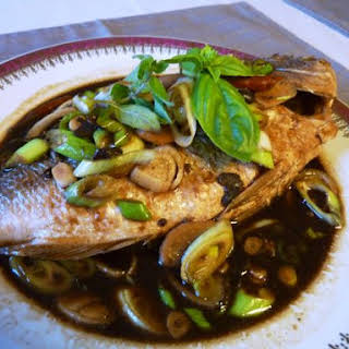 Cambodian Style Fish With Soy Bean Paste.