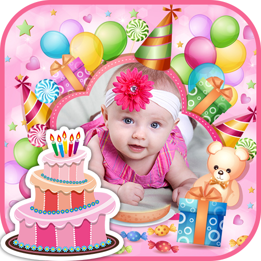 Happy Birthday Cake PHOTO Frame Editor Screenshot 1