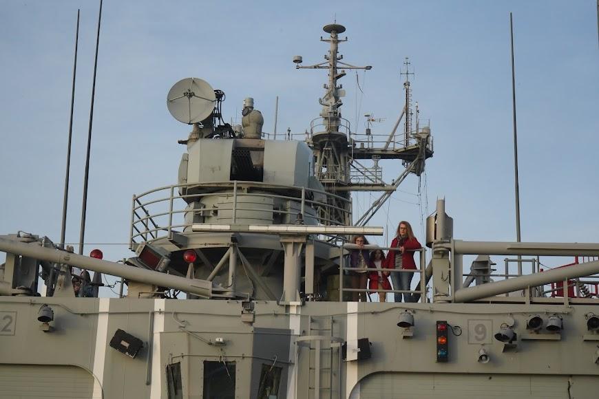 La fragata Santa María está en el Puerto desde este viernes.