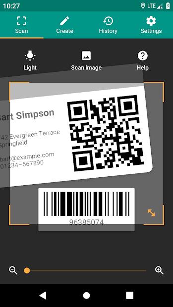 QR & Barcode Reader Android App Screenshot