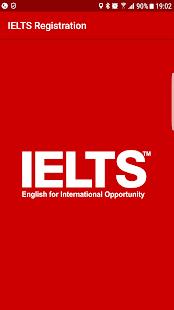 IELTS Registration - náhled