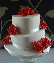 Photo: Ruby Wedding Anniversary cake by Cakes by Ade (4/27/2012) View cake details here: http://cakesdecor.com/cakes/13726