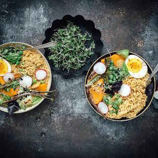 Vegetarian Spring Curry Ramen.