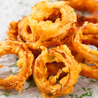 Spicy Indian Style Onion Rings.