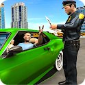 Police Officer Duty Multi Storey Parking Building icon
