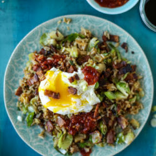 Bacon Brussels Sprouts Fried Rice.
