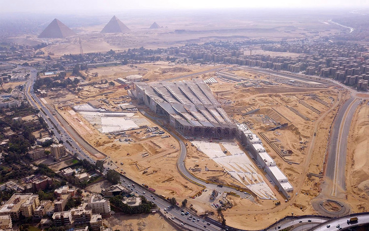 Grand Egyptian Museum. Image Courtesy of Heneghan Peng Architects