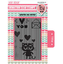 Uchi´s Animation Clear Stamps & Grid Set - Loving Cat