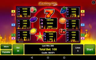 Screenshot of Sizzling Hot™ Deluxe Slot