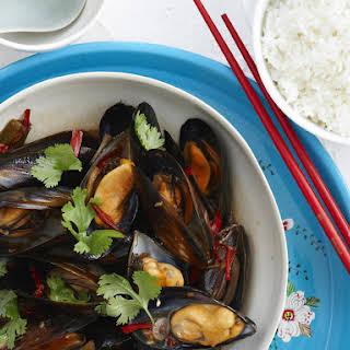 Stir-Fried Mussels and Rice.
