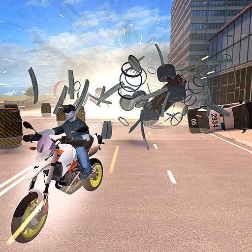 Giant Destruction Motorcycle Crash Game