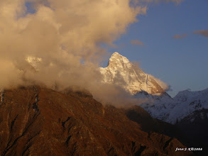 Photo: Zapad slnka pod Nanda Devi (7816m)