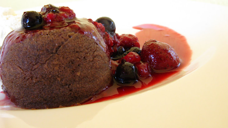 Chocolate Petit Gateau with Berry Sauce Recipe