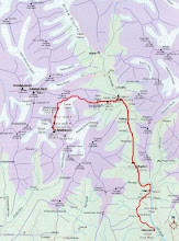 Photo: Route Map (From Road-head to Peak)