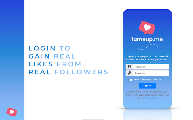FameUp – Free likes for your Instagram