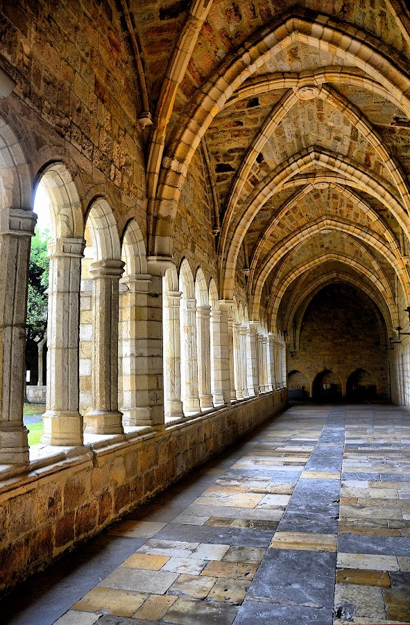The Cloister of Santander Cathedral by Francis Xavier Camilleri - Buildings & Architecture Public & Historical ( colors, santander, cloister, columns, cathedral, architecture, light, medieval, spain,  )