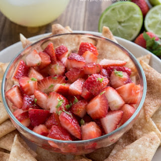 Strawberry Salsa with Pie Crust Chips.
