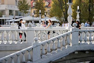 Photo: Ljubljanan kolmoissilta.