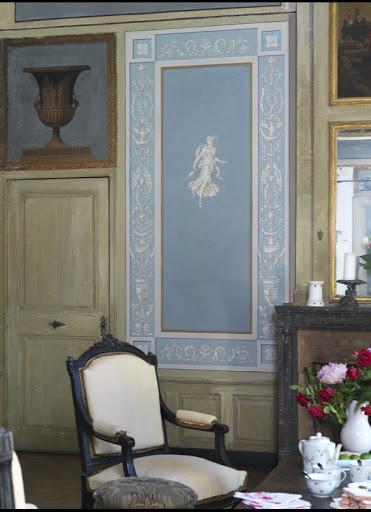 Salon Bleu. Château de La Gallée