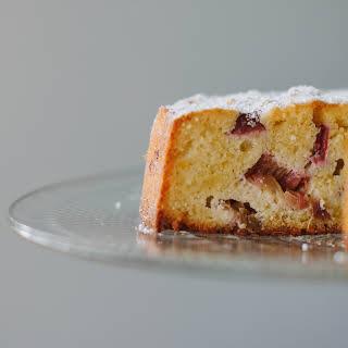 Flourless Rhubarb + Lemon Cake.