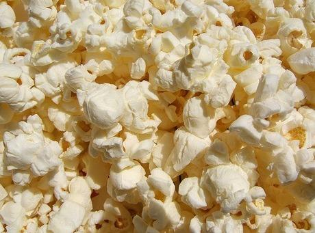 Pop 5 quarts of popcorn and put in brown paper shopping bag.  If...