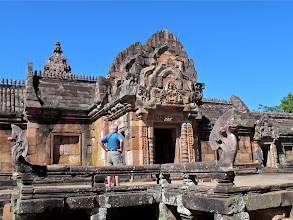 Photo: Keith on the naga platform leading to the entrance to Prasat Hin Phanom Rung