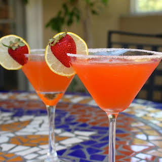 Fresh Strawberry Lemon Drop Martini.