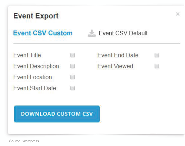 Event Export. Source: WebEngage