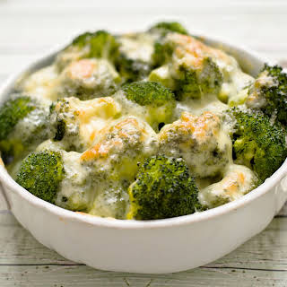 Cheese Sauce Smothered Broccoli.