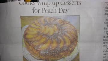 Bourbon Peach Upside Down Cake