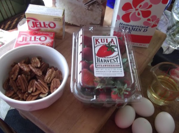 Mix together dry ingredients: cake mix, jello and pudding mix.  Add oil, butter,...