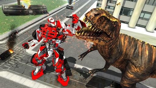 Wild Dinosaur Rampage : Flying Robot Shooting Game android2mod screenshots 6