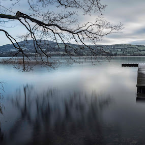 Twomilegate  by Helen Quirke  - Landscapes Waterscapes ( water, winter, ireland, blue, january, lake, frosty, co. clare,  )