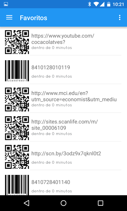 BIDI: lector QR y de barras- screenshot