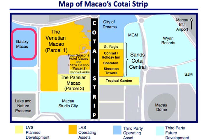 Macau Cotai Strip map