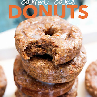 Baked Carrot Cake Donuts with Cream Cheese Glaze