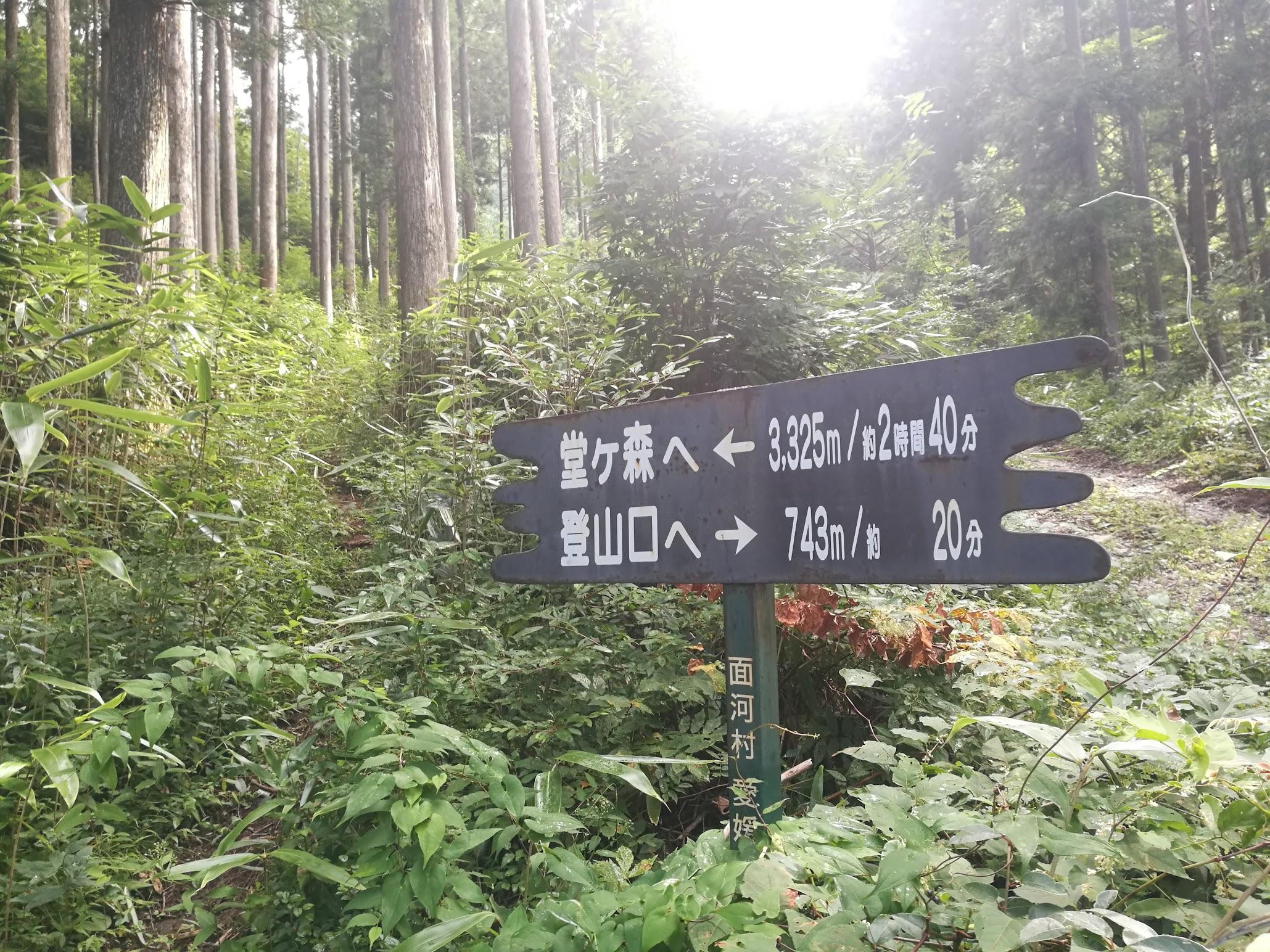 堂が森登山口