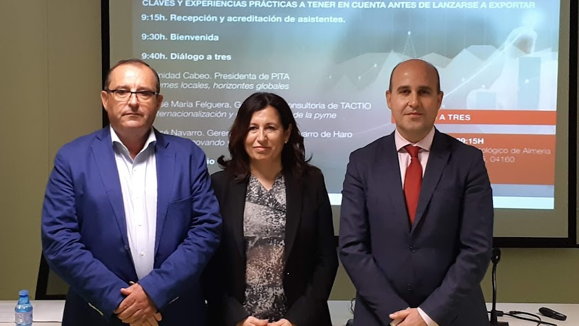 De izquierda a derecha: José Navarro (Navarro de Haro), Trinidad Cabeo (PITA), y José María Felguera (Tactio).