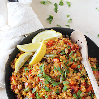 Vegetable Paella with Chickpeas