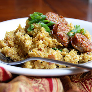 Curried Coconut Cauliflower Rice with Sausage