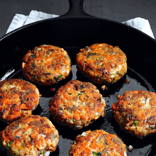 DUKKA-SPICED SALMON PATTIES