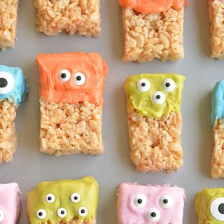 Rice Krispie Treat Monsters.