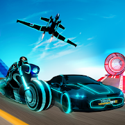 Light Bike Stunt Transform Car Driving Sim 2019