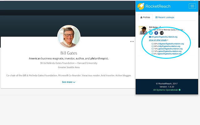 RocketReach Chrome Extension - Find any Email