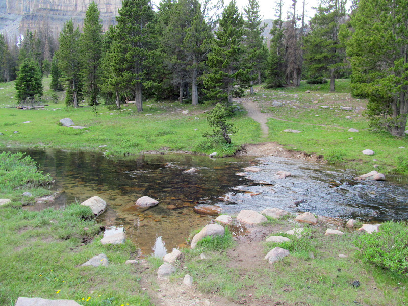 Photo: Normal (low-water) crossing of Ostler Fork