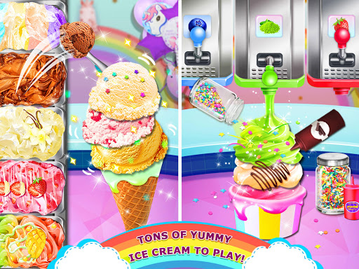 Rainbow Ice Cream - Unicorn Party Food Maker 1.0 screenshots 12