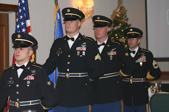 Photo: Soldiers and their guests join together for the 34th Combat Aviation Brigade Ball at the Marriott in Bloomington, Minnesota on the night of December 8th, 2007.  Dinner was served, awards were given to honor both Soldiers and families, distinguished speaker Chaplin John Morris (LT COL) gave a speech which received a standing ovation by the crowd and the night was turned back over to the Soldiers for a social hour.  Photo by Sgt. John Dickison
