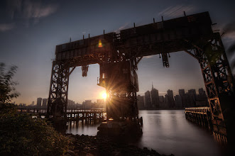 Photo: From the blog today.  The East River sure isn't known for being especially beautiful. In fact none of the rivers around the NY Metro and Jersey City area are anything special to look at, but I figure you got to try! I shot this with a 10 stop ND filter and the Promote control for extra long exposures. The choppy waters of the East River are not match for a 15 - 30s exposures.